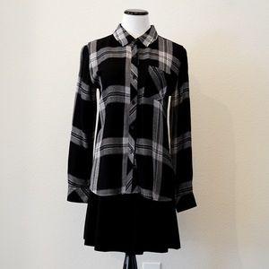 Black & white plaid women's Rails shirt
